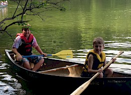 Canoeing on Percy Priest Lake